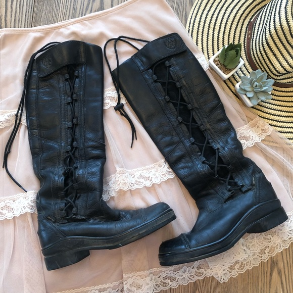 Ariat Shoes - Ariat Leather Equestrian Lace Up Boots Size 7 B